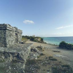 freetoedit ruins sea sky cliff