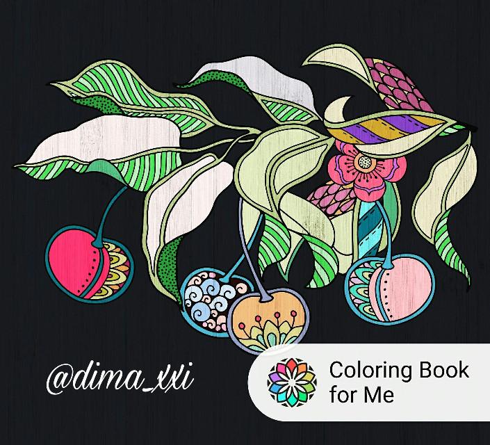 #coloringbookforme   #colors #colours  #paint #fruit #berrys #black