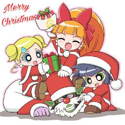 merry christmas powerpuffgirls