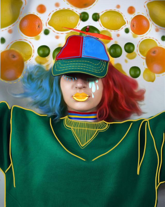 #FreeToEdit #remix #rain #fruits #tuttifrutti