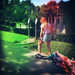 art skatergirl skateboard sport park freetoedit