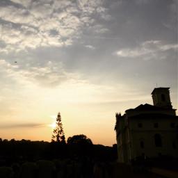 goa museum shadow dusk yellow freetoedit