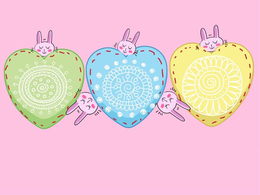 #FreeToEdit #valentinesday #hearts #valentine #pink #bunnies #madewithpicsart #art #clipart #stickers