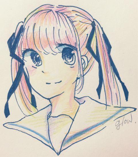 drawing japan art girl draw