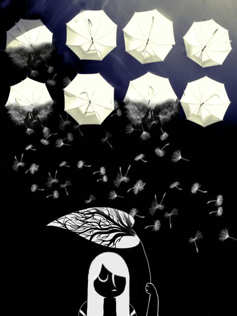 freetoedit blackandwhite mydrawingedit umbrella girl