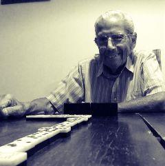 playing dominoes grandpha