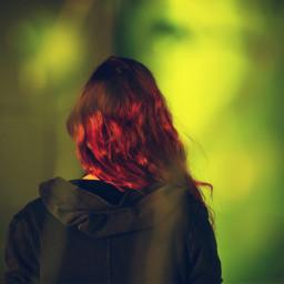freetoedit redhead girl green