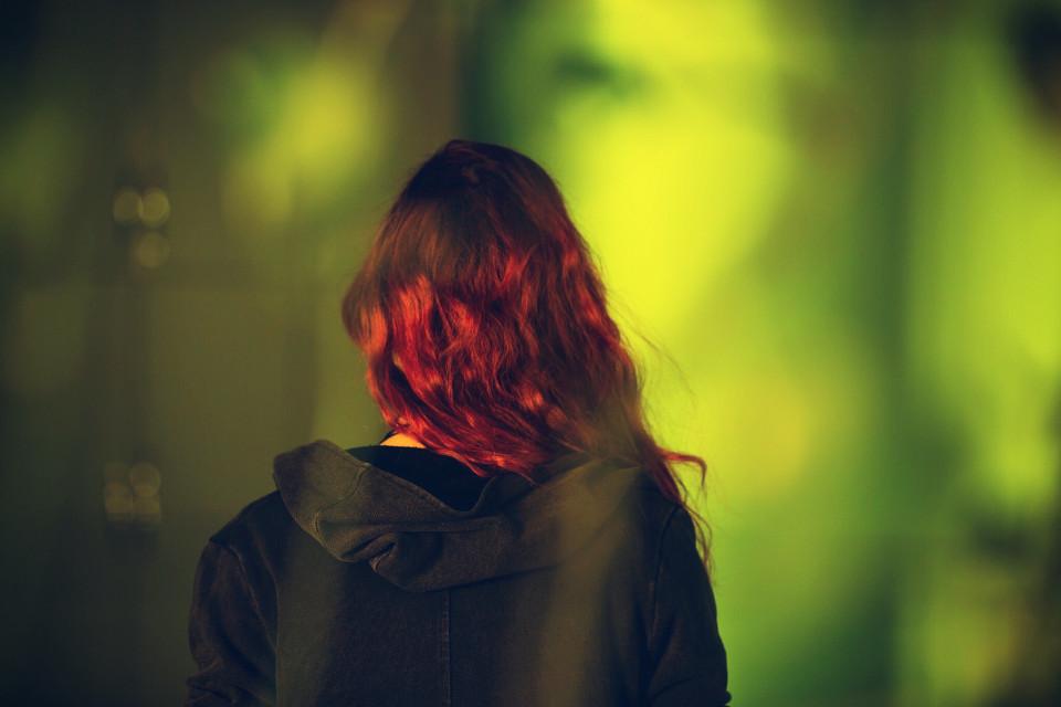 #FreeToEdit #redhead #girl #green