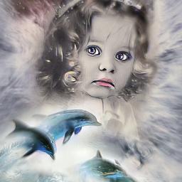 freetoedit fantasy subreal girl mezclas