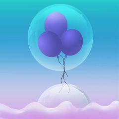 balloon bubble cute spring illustrarion